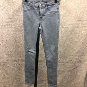 H&M Skinny Ankle Jean 25 Regular Light Denim